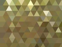 Żółtego złota wieloboka błyszczący kruszcowy trójgraniasty odbijający tło ilustracji
