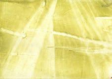 Żółtej zieleni obmycia rysunku niejasny projekt Fotografia Royalty Free