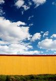 Żółty ścianę Zdjęcia Stock