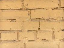 Żółty ściana z cegieł Obrazy Stock