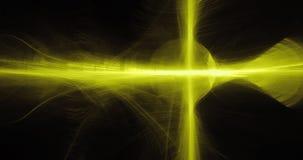 Żółty abstrakt Wykłada krzyw cząsteczek tło royalty ilustracja