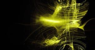 Żółty abstrakt Wykłada krzyw cząsteczek tło ilustracja wektor
