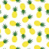 Żółty ananas z trójboka geometrycznym owocowym latem tropikalnym Obrazy Stock
