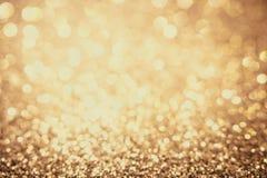 Żółty bokeh tło dla walentynka dnia, przyjęcie, wydarzeń pojęcia Żółty bokeh i złoty tło obrazy royalty free