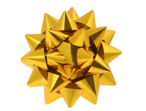 Żółty bow Zdjęcia Stock