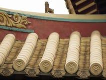 Żółty ceramiczny chińczyka dach zdjęcia royalty free