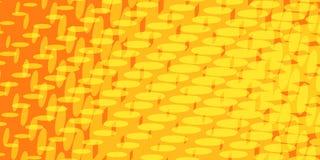Żółty czerwony halftone tło Fotografia Royalty Free