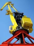Żółty dźwigu Fotografia Royalty Free