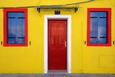 Żółty dom Fotografia Royalty Free