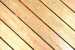 żółty Drewniany pochyły tekstury tło Zdjęcie Stock