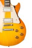 Żółty gitary elektrycznej istrument zdjęcia royalty free