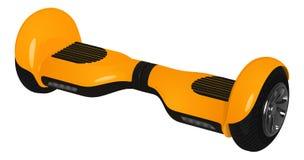 Żółty gyroscooter z czarnymi kołami, wektorowy wizerunek Zdjęcia Stock