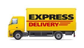 Żółty handlowy transport Fotografia Stock