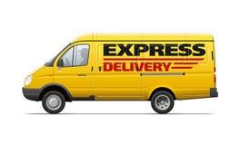 Żółty handlowy transport Zdjęcia Royalty Free