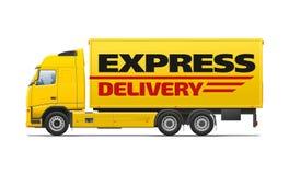 Żółty handlowy transport Zdjęcie Royalty Free