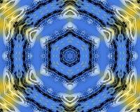 Żółty i błękitny abstrakta wzoru tło royalty ilustracja