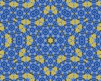 Żółty i błękitny abstrakta wzoru tło ilustracja wektor