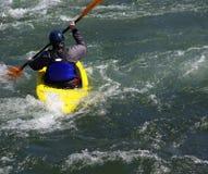 Żółty kajak rzeki Zdjęcia Royalty Free