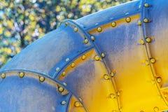 Żółty klingeryt drymby tunel obraz royalty free