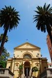 Żółty kościół zdjęcie stock