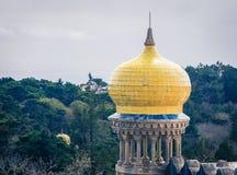 Żółty kopuły sintra Zdjęcia Stock
