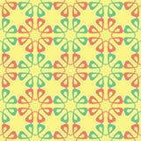 Żółty Kwiecisty bezszwowy wzór Barwiony tło z menchii i zieleni kwiatu projektem royalty ilustracja
