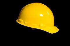 Żółty mocniej kapelusza Zdjęcia Royalty Free
