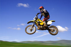Żółty moto x Zdjęcia Stock