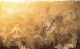 Żółty niski poli- tło Mozaiki poligonalny kolorowy Obraz Stock