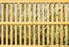 Żółty palika ogrodzenie zdjęcie royalty free