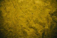 Żółty rocznika tło Szorstka żółta tekstura i tło dla projektantów Zamyka w górę widoku abstrakcjonistyczna ciemna żółta tekstura  Zdjęcie Royalty Free