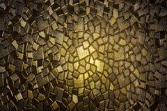 Żółty rocznika witraż Fotografia Royalty Free