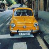 Żółty samochód Fotografia Royalty Free