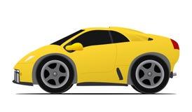 Żółty samochód wyścigowy ilustracji