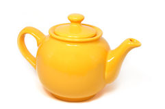 Żółty teapot Fotografia Royalty Free