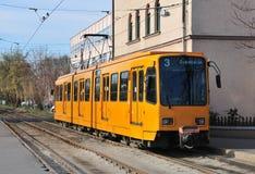 Żółty tramwajowy Zdjęcia Royalty Free