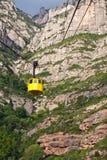 Żółty wagon kolei linowej Zdjęcia Royalty Free