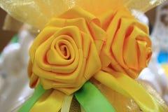 Żółty wielkanoc jaj Fotografia Royalty Free
