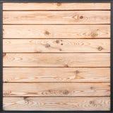 Żółtych drewnianych desek desek tekstury bezszwowy tło Zdjęcia Stock