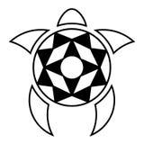 Żółw przestylizowanie Linia i kleks fotografia royalty free