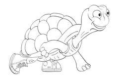 Żółw w sneakers ilustracja wektor
