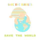 żółwie uratować Save świat Zdjęcia Royalty Free