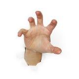 żądnej ręki odosobniony biel Zdjęcie Stock