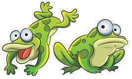 żaba śmieszna royalty ilustracja