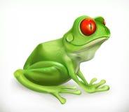 żaba kumak zabawne zwierzę przygotowywa ikonę ilustracji