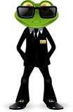 Żaba pracownik ochrony Obraz Royalty Free