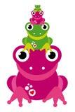 żaba rodzinna zdjęcia royalty free