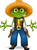 żaba szeryf ilustracji