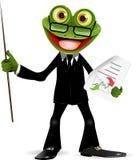 Żaba w kostiumu royalty ilustracja