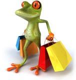 żaba zakupy Obrazy Royalty Free